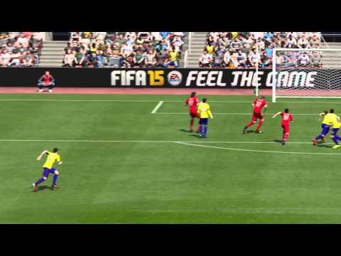 FIFA 15 FUT 40 yard free kick scremer goal