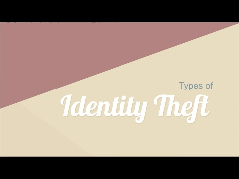 Types of Identity Theft