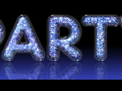 Photoshop Tutorial: How to Create Stunning, Glitter-filled, Glass Text!