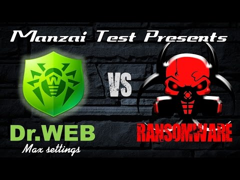 [Test Musical] Dr.Web Security Space 10 (Maximum Settings) VS Ransomware