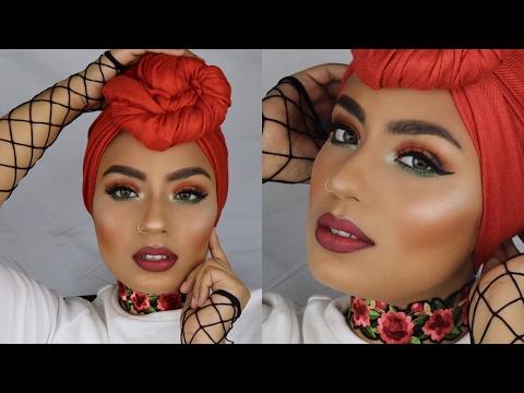 🌹Rose / Burnt Orange Red Makeup Tutorial 😃 #Monochromatic