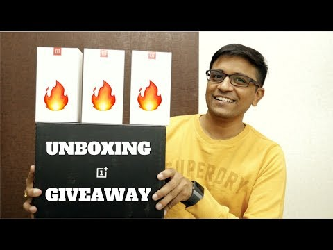 OnePlus 6 Unboxing & Top Features (3 OnePlus6 Giveaway) 🔥🔥🔥