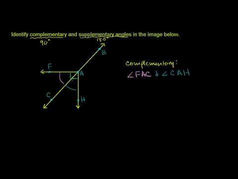 Identifying Complementary and Supplementary Angles
