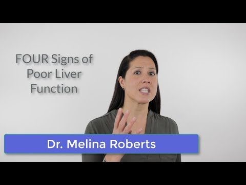 FOUR Signs of Poor Liver Function