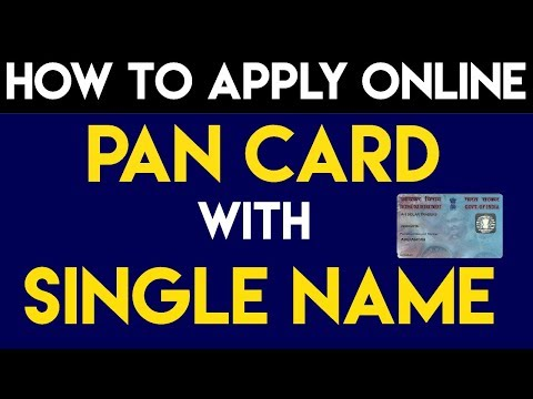 How To Apply Online Pan Card With Single Name !! Pan Card Single Name - Apply Pan Card Single Name