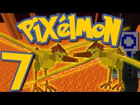 Pixelmon Ep. 7 - DOUBLE MOLTRES BATTLE!! (Minecraft Pokemon Mod)
