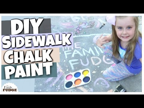 How To Make Sidewalk Chalk Paint    DOLLAR TREE Kids Craft