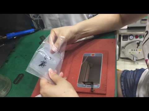 separate backlight change mirror film clean mirror film on lcd change new backlight soldering