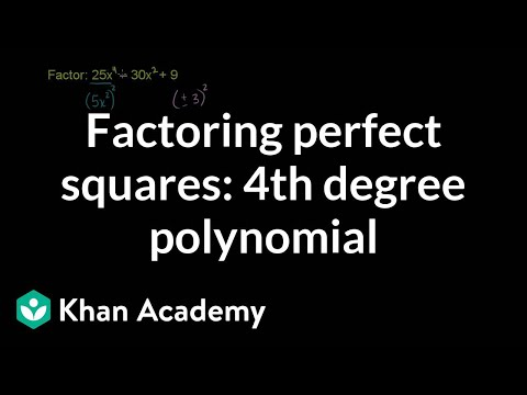 Example 5: Factoring a fourth degree polynomial using the