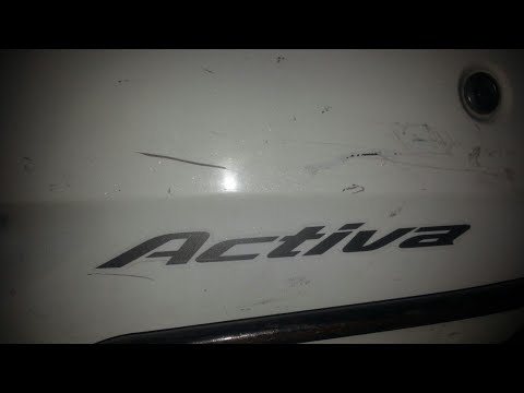 How to remove Scratches From ACTIVA and other Types over Vehicles. Plastic and Metallic part scratch