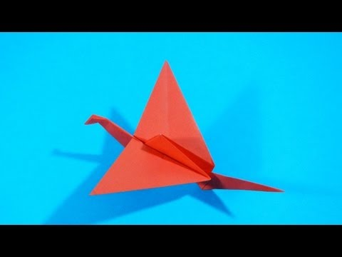 Origami - How to fold a Flapping Bird