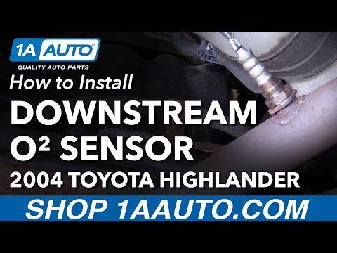 How to Install Replace Downstream O2 Oxygen Sensor 2004 Toyota Highlander