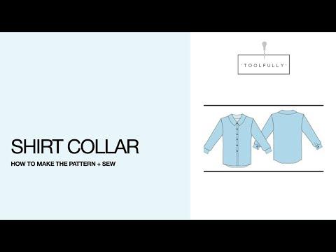 Shirt Collar, basic pattern & sewing.
