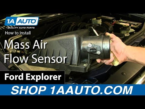 How To Install Replace Mass Air Flow Sensor Ford Explorer 4.6L V8