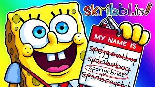 Skribblio Funny Moments - It's a SPONGEBNOB Episode!