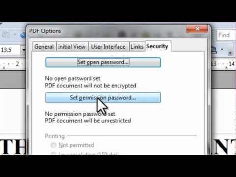 OpenOffice - How to create your own PDF files & FREE Download