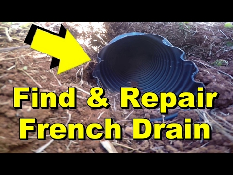How to Find and Repair French Drain