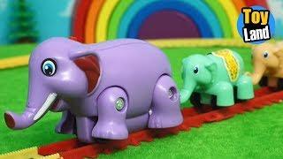 Elephant Train Toy for children Videos Kids TRAIN TRACK SET  TOYLAND