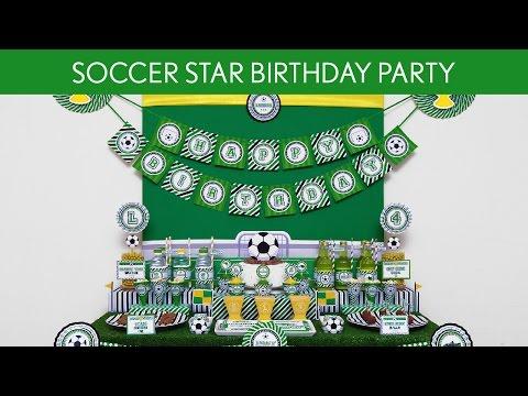 Soccer Star Birthday Party Ideas // Soccer Star - B119
