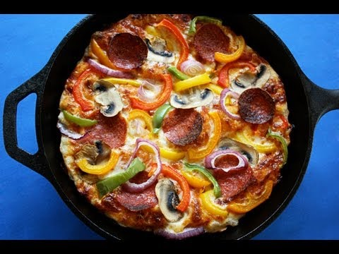 Easy Pan Pizza - Foolproof Crust - Healthier, Low-Fat Pan Pizza!