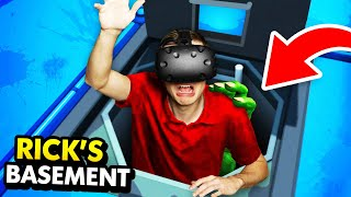 ATTACKED By A MONSTER In RICK'S SECRET BASEMENT (Rick and Morty: Virtual Rick-ality Gameplay)