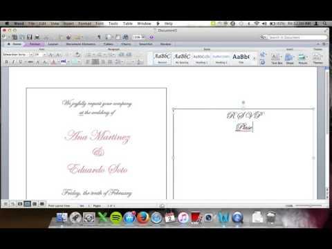 DIY Wedding Invitation Inserts