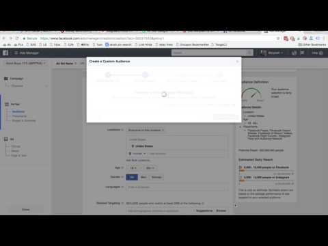 How to create a custom audience from your email list with Facebook ads