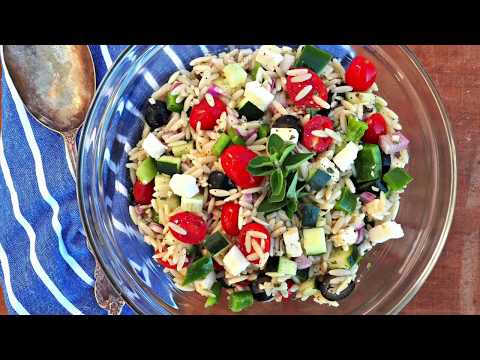 Side Dish Recipe: Mediterranean Style Orzo Salad by Everyday Gourmet with Blakely