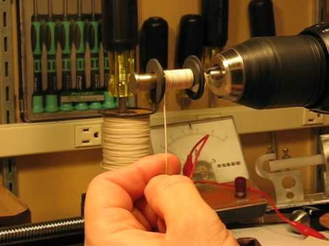 Making Electromagnet Coils for a Telegraph Sounder