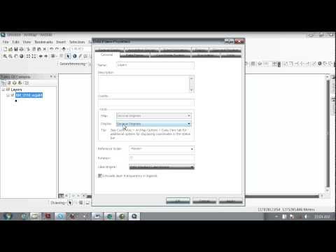 How to Convert UTM to Decimal Degree for ArcGIS10.0 Khmrer Video