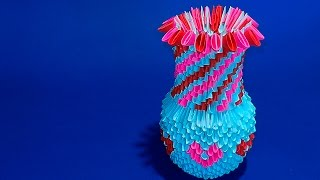 3d Origami A Vase For Flower Of Paper Tutorial