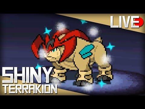 LIVE! Shiny Terrakion after 2,856 Soft Resets in Pokémon White!