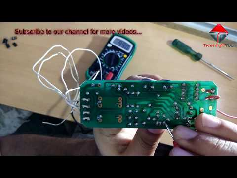 How to repair Electronic Choke/Ballast at home in hindi!