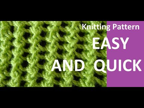 Knitting Pattern * EASY AND  QUICK *