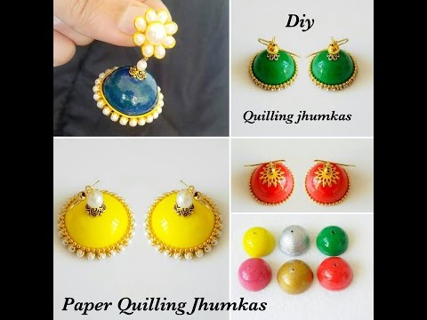 How to make quilling jhumka shape perfectly||Quilling jhumka making tips||How to apply Resin