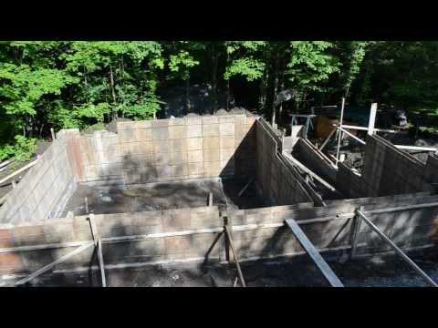 Concrete Forms Foundation Walls - 7 - My Garage Build HD Time Lapse