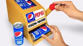 How to make PEPSI Vending Machine from Cardboard DIY at Home