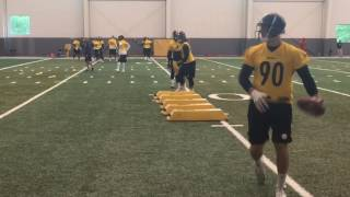 Pittsburgh Steelers OLBs, WRs and RBs practice at OTAs Day 3