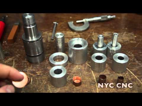Making Copper Bullet Jackets: Machining Punching & Drawing Dies!  Part 1