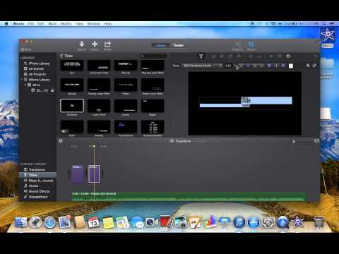 How to make a lyric video using imovie