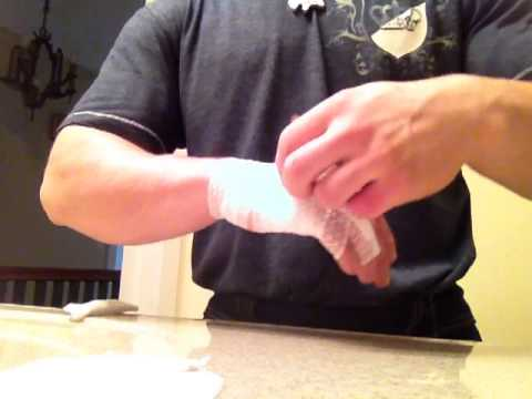 First Aid: Applying My Hand Dressing for Open Wound