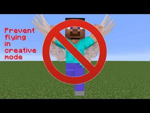 Prevent flying in creative mode - vanilla Minecraft