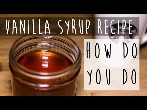 How to Make Vanilla Syrup || Simple Vanilla Syrup