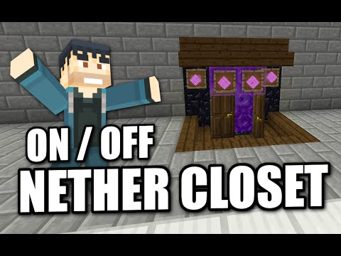 Minecraft - ON / OFF NETHER PORTAL CLOSET - Tutorial ( PE / XBOX / PS4 / PS3 / WII U )