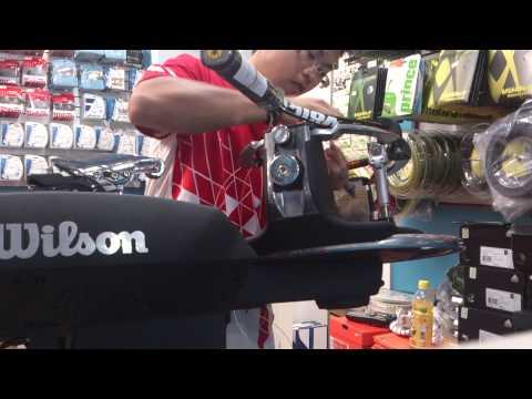 Stringing on Wilson Baiardo machine