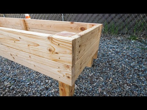 DIY: How To Build Raised Garden Beds For Sloped Yard Using 2x6 Boards