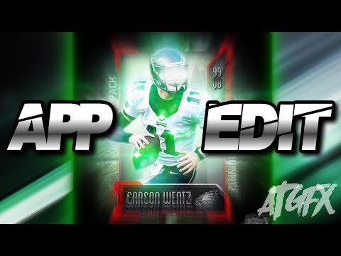 Carson Wentz Madden card Speed-art on mobile apps!