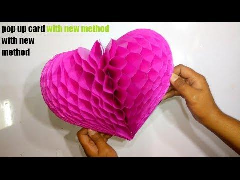 DIY Flower Pop Up Card Paper Crafts-Handmade Craft - Very Easy - Step By Step (Tutorial)