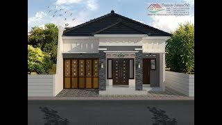 modern house (9x13) 3 k. tidur. desain rumah minimalis