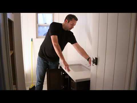 How to Replace an Old Vanity & Sink